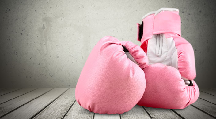 cáncer de mama puños