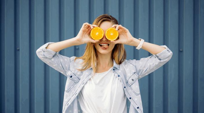 comida sana-naranja