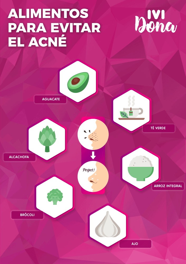 alimentos para evitar el acne-infografia